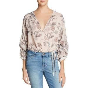 ASTR The Label Floral Body Suit Blouse